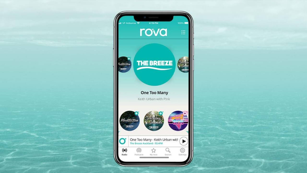 Grab our new app rova and stay tuned to The Breeze